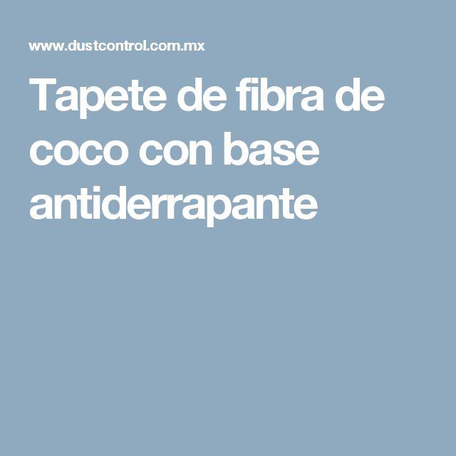 Tapete de fibra de coco con base antiderrapante