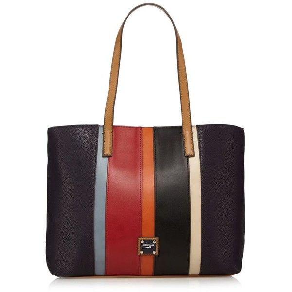 Principles Navy stripe panel tote bag (1.165 RUB) ❤ liked on Polyvore featuring bags, handbags, tote bags, navy blue tote bag, white handbag, zipper tote, stripe tote and navy tote