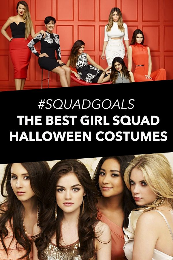 Great girl group costume ideas #squadgoals