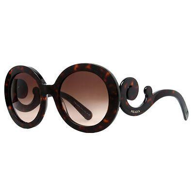 Prada-SPR-27N-2AU-6S1-Brown-Havana-Baroque-Swirl-Women-039-s-Round-Sunglasses