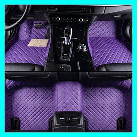 Custom Luxury Diamond Stitched All Weather Floor Mats Custom Car Floor Mats Purple Jeep Blue Car Accessories