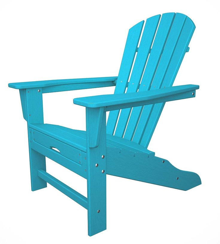 POLYWOOD Adirondack Chair With Ottoman | Plow U0026 Hearth | Weatherproof Patio  Furniture, Beach House Part 39