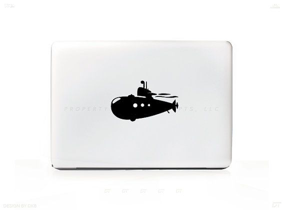 Submarine underwater vessel sticker decal for mac laptops pc ipad iphone versions available