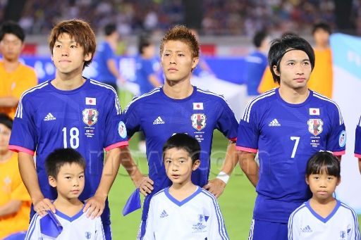 Newscom Image : aflosports284312 (L-R) Yuya Osako, Yoichiro Kakitani, Gaku Shibasaki (JPN), SEPTEMBER 9, 2014 - Football / Soccer : KIRIN Challenge Cup 2014 match between Japan - Venezuela at Nissan Stadium, Kanagawa, Japan. (Photo by Yohei Osada/AFLO SPORT)