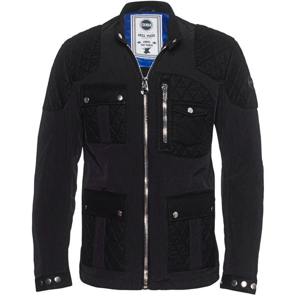 Colmar Originals Audrogny Black // Jacket in biker style (395 CAD) ❤ liked on Polyvore featuring men's fashion, men's clothing, men's outerwear, men's jackets and mens biker jacket