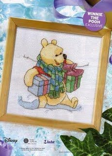 Winnie the Pooh Pooh with Gifts The World of Cross Stitching Issue 119 December 2006 Saved
