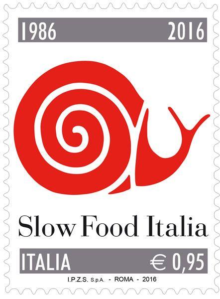 """Francobollo ordinario appartenente alla serie tematica """"le Eccellenze del sistema produttivo ed economico"""" dedicato a Slow Food Italia, nel 30° anniversario della fondazione"""