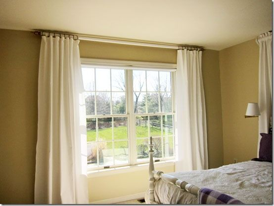 How to make a curtain rod and finials with a tennis ball for Window treatment manufacturers
