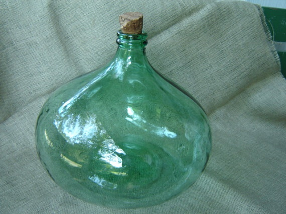 17 best images about antiques and junk on pinterest for Green glass wine bottles
