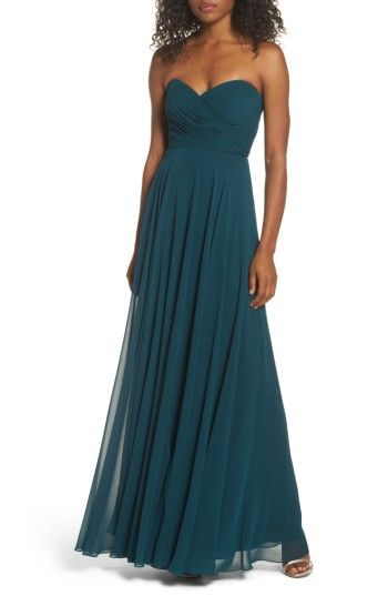 Free shipping and returns on Jenny Yoo Adeline Strapless Chiffon Gown at Nordstrom.com. Layers of diaphanous chiffon shape the fitted, sweetheart-neckline bodice of this lovely gown before cascading into a floor-sweeping skirt.
