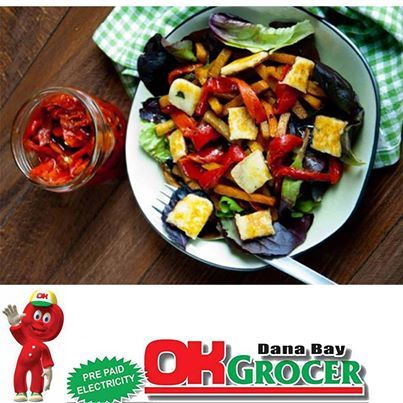 Had a busy day,not in the mood to cook,stop off at OK Grocer Danabaai for cold meats,hot baked rolls and a nice refreshing fruit salad. #okgrocerdannabaai