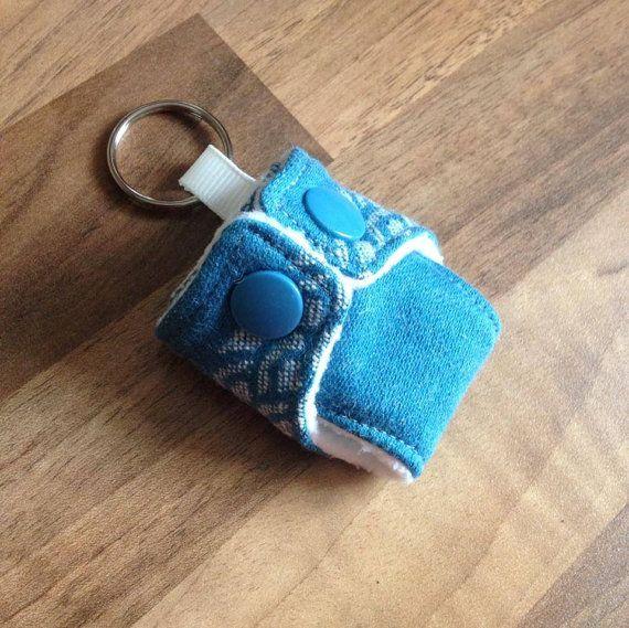 Oscha Okinami Harris Mini Cloth Nappy Keyring Diaper Keychain £4