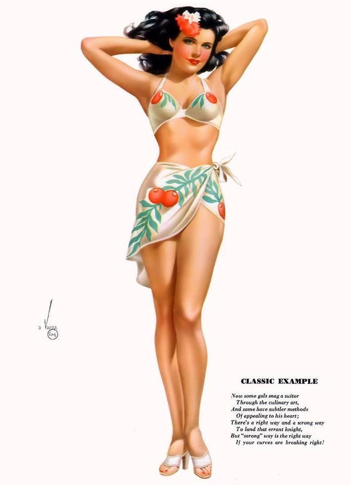 Nude hawaiian pin up girl — pic 11