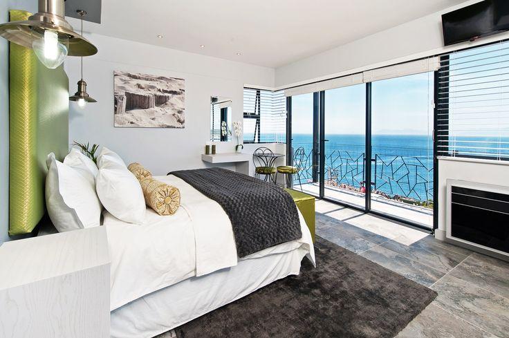 Modern bedroom interior design by the sea - Overberg Interiors