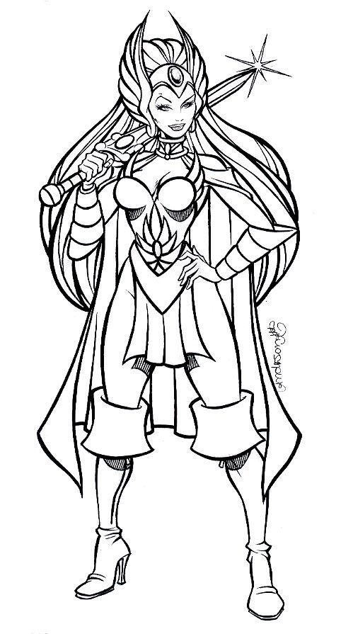 she ra coloring pages - photo#12