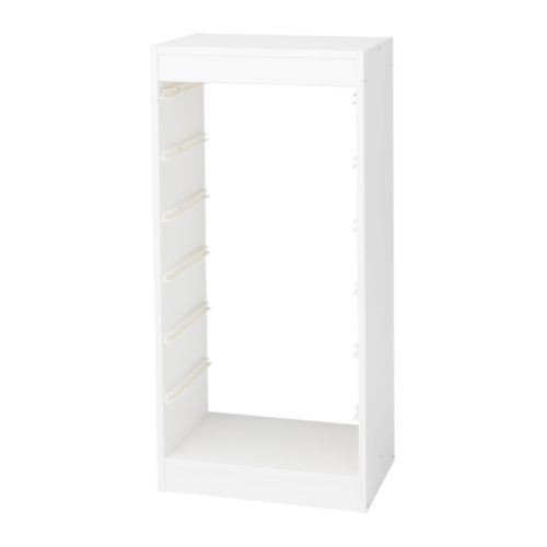 A sufficient number of guide rails are included for you to be able to combine as many boxes/shelves as you like. $29.99 for frame and then you add the bins.  Ikea
