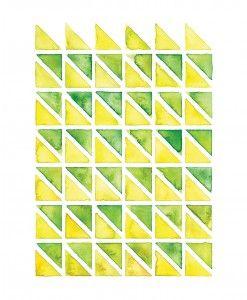 Yellow & Green Geometry