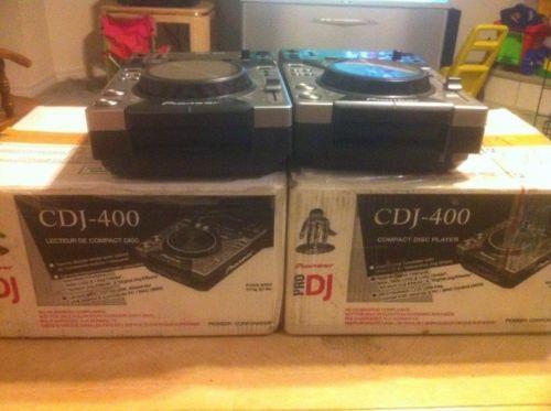 Pioneer CDJ 400 Qty 2 Matching Set
