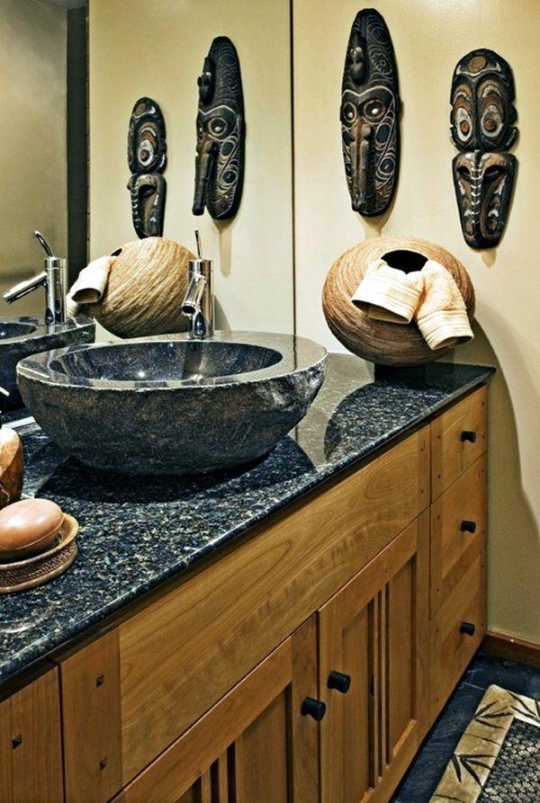 40 African Masks Wall Decoration Ideas, African Bathroom Decor