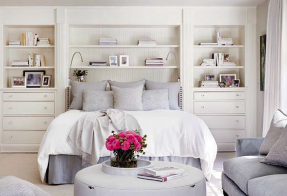 built-ins around bed
