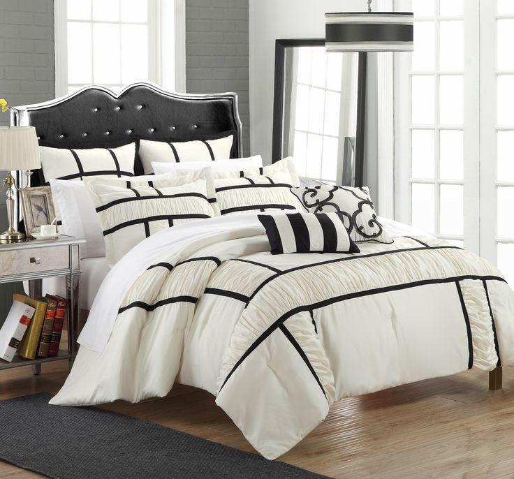 Chic Home King Tuscan Comforter Set In Black