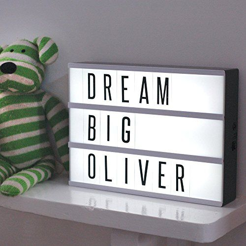 LightQuoteBoxTM Light Your Life Up Cinematic Light Box Retro & Novelty Light Box Comes with 85 Letters and Symbols. Find it on Amazon, see the link below.