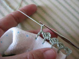 Borde al crochet para repasadores o servilletas                                                                                                                                                                                 Más