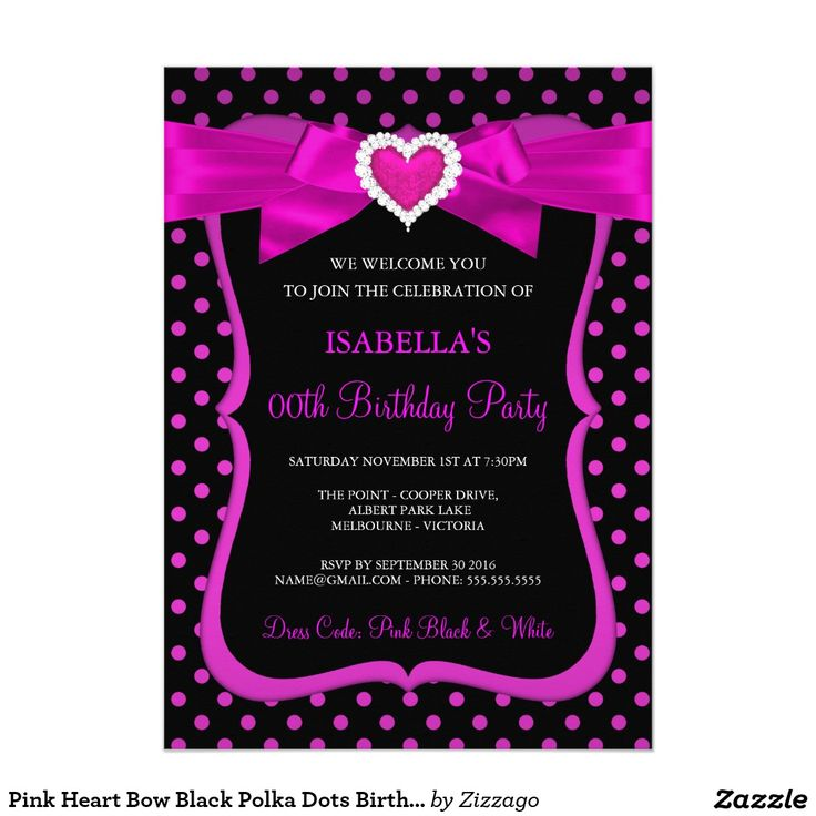 172 best Womens & Girls Birthday Party Invitations images on Pinterest