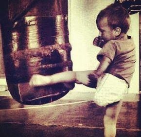Muay Thai for itty bitty kids!!! Aww I want to run little muay thai classes!!