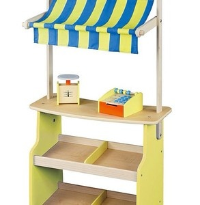 Wooden Market Stall - Play Shop with Scales And Wooden | eBay