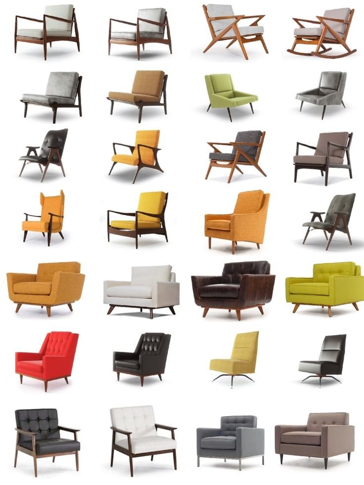 Mid-Century Modern Chairs www.UpholsterEase.com