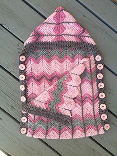 Chevron Plaid Sleep Sack #crochetpattern by The Blue Star Boutique
