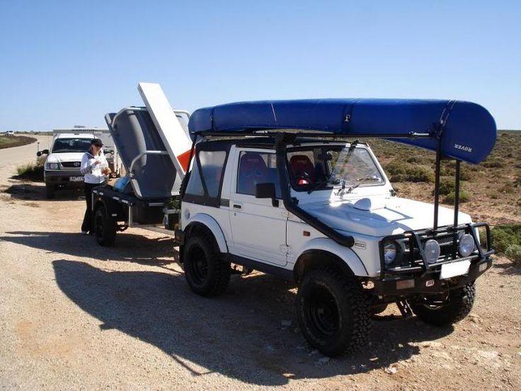 Suzuki Fan With Podtrailer Canoe Wheels Pinterest