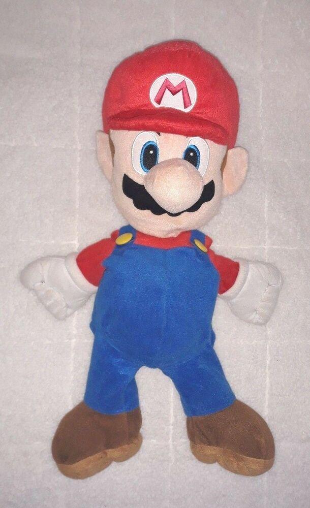 Nintendo Super Mario Plush Doll 24 Stuffed Toy Pillow Zipper Back