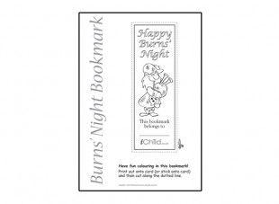 Burns' Night Bookmark