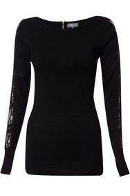 Apricot Black Back Zip Jumper http://www.apricotonline.co.uk/mall/productpage.cfm/womensclothing/_5051839143388/461702/Black-Back-Zip-Jumper