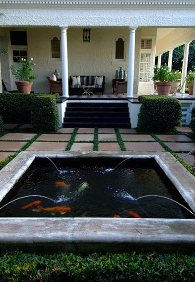 50 best images about beautiful koi ponds on pinterest for Square fish pond