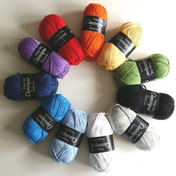 Stylecraft Classique Cotton DK.   Dolly bobbins