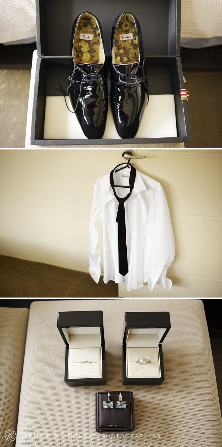 Grooms details. Shoes by Paul Smith