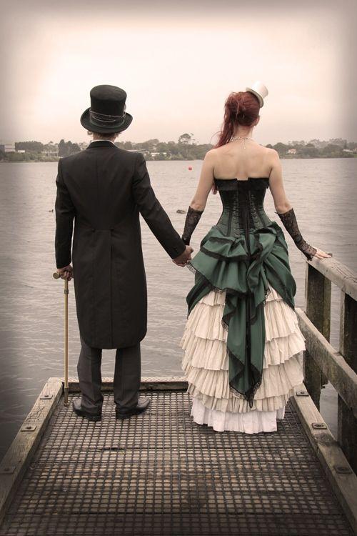 An Alternative Steampunk Wedding on a Budget of only 500 NZD!? Love Her Dress!