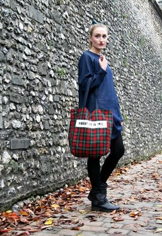 Daisy Tartan tote Bag