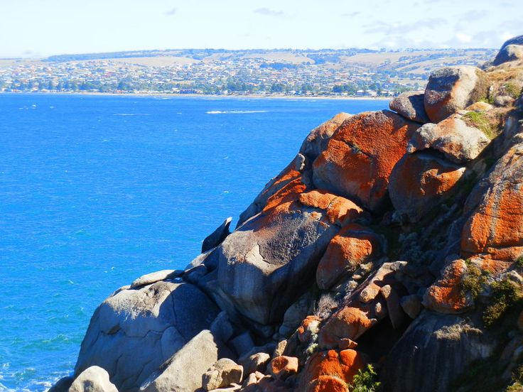 View from Granite Island to Victor Harbor, #SouthAustralia