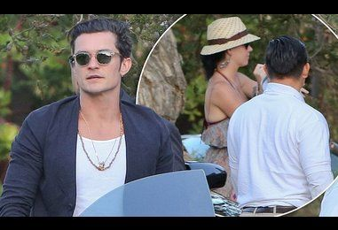 Orlando Bloom and Katy Perry enjoy a romantic lunch date together