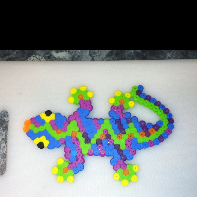 Nathan and I made a Perler Bead gecko. | Crafty Stuff ...
