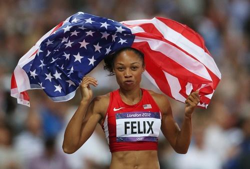 Allyson Felix London 2012 Track and Field 200m