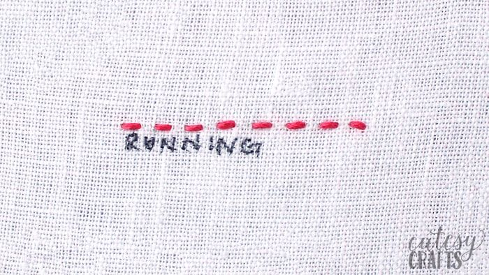 How To Do A Running Stitch Running Stitch Embroidery Stitches