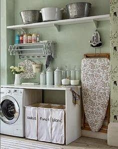 Vintage Laundry Room, so cute.