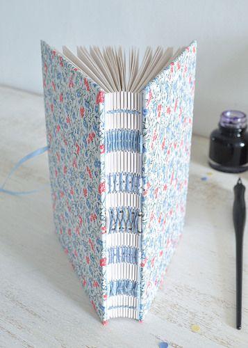 Blue floral handmade journal by dani fox