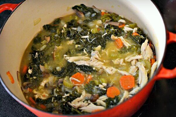 Lemony Chicken and Kale Soup - Healthy, Hearty, Whole30 approved, Paleo and Gluten-Free