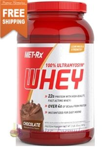 Ultramyosyn Whey Chocolate 2 lb. MET-Rx Ultramyosyn Whey provides cross-flow Ultrafiltered Whey Protein Concentrate. #athleticsupport #healthyliving